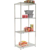 Quick Adjust Wire Shelving 36 x 24 x 86 - Poly-Z-Brite