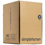 simplehuman Trash Can Liner Code X 21 Gallon, 26 X 34.6, Pack of 200