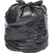 Global™ 2X Heavy Duty Black Trash Bags - 55 Gallon, 1.7 Mil, 100/Case