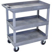 Luxor® EC111HD E-Series Gray 3-Shelf Tub Cart 35-1/4 x 18 500 Lb. Cap.