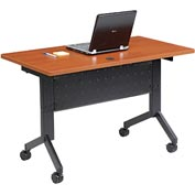 "Training Table, Flip-Top 48""L Cherry Finish Top"