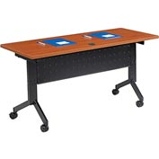 "Training Table, Flip-Top 60""L Cherry Finish Top"