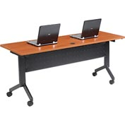 "Training Table, Flip-Top 72""L Cherry Finish Top"
