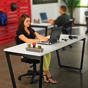 "Interion™ Open Office/Agile Office Collaborative Desk, Single Sided, 60""W x 30""D"