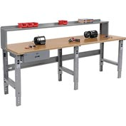 "96"" W x 36"" D Shop Top Square Edge with Drawer and Riser"