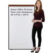 "Interion™ Deluxe Office Cubicle Partition Panel with Whiteboard, 36-1/4""W x 61-1/2""H"