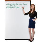 "Deluxe Office Partition Panel with Whiteboard, 48-1/4""W x 73-1/2""H"