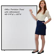 "Office Partition Panel with Whiteboard, 48-1/4""W x 60""H"