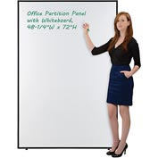 "Interion™ Office Partition Panel with Whiteboard, 48-1/4""W x 72""H"