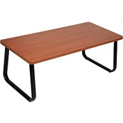 "Interion™ Rectangle Coffee Table 43"" x 20"" Cherry Top"