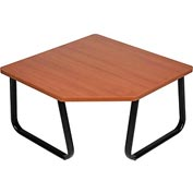 "Interion™ Corner Coffee Table 30"" x 30"" Cherry Top"