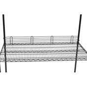 "Ledge 48""L x 4""H for Wire Shelves - Black Epoxy"