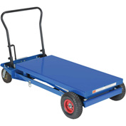 Vestil Pneumatic Tire Hydraulic Elevating Cart CART-PN-1000 1000 Lb. Capacity