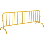 "Crowd Control Barrier Powder Coated Yellow 102""L x 40""H x 1-5/8"" Dia."