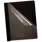 Oxford Premium Paper Clear Front Cover, 3 Fasteners, Letter, Black, 25/Box