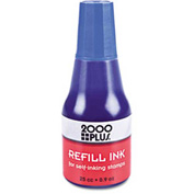2000 PLUS Self-Inking Refill Ink, Blue, .9 oz Bottle