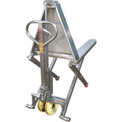Wesco® Stainless Steel Manual High-Lift Skid Truck 272859 27x46 2200 Lb.