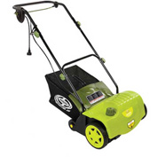 "Sun Joe AJ800E Electric Dethatcher, 14"" W, 11AMP, AirBoost Technology"