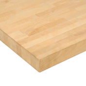 "72""W x 30""D x 1-3/4"" Thick, Birch Butcher Block Square Edge Workbench Top"