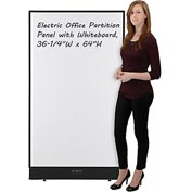 "Interion™ Electric Office Partition Panel with Whiteboard, 36-1/4""W x 64""H"