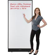 "Electric Office Partition Panel with Whiteboard, 36-1/4""W x 76""H"