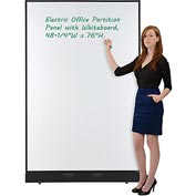 "Electric Office Partition Panel with Whiteboard, 48-1/4""W x 76""H"