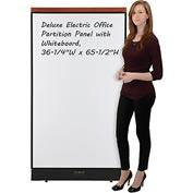 "Interion™ Deluxe Electric Office Cubicle Partition Panel with Whiteboard, 36-1/4""W x 65-1/2""H"