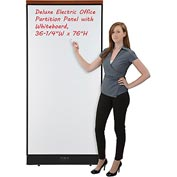 "Interion™ Deluxe Electric Office Cubicle Partition Panel with Whiteboard, 36-1/4""W x 77-1/2""H"