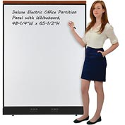 "Interion™ Deluxe Electric Office Cubicle Partition Panel with Whiteboard, 48-1/4""W x 65-1/2""H"