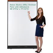 """Interion™ Deluxe Electric Office Partition Panel with Whiteboard, 48-1/4""""W x 77-1/2""""H"""