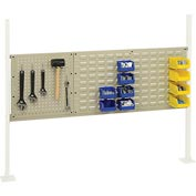 "Mounting Kit with 18""W Pegboard and 36""W Louver for 60""W Workbench -Tan"