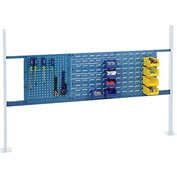 "Mounting Kit with 18""W Pegboard and 36""W Louver for 72""W Workbench- Blue"