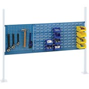 "Mounting Kit with 18""W Pegboard and 36""W Louver for 60""W Workbench - Blue"