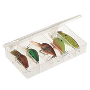 "Plano StowAway® 5 Fixed Compartment Box 344985,  6-1/2""L x 3-3/4""W x 1-1/8""H, Clear - Pkg Qty 6"