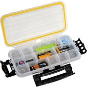 "Plano Guide Waterproof StowAway® w/O-Ring Seal Box, 9-1/8""Lx 4-7/8""W x 1-1/2""H, Clear - Pkg Qty 2"