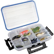"Plano Guide Waterproof StowAway® w/O-Ring Seal Box,10-3/4""Lx7-1/4""W x 1-3/4""H, Clear - Pkg Qty 2"