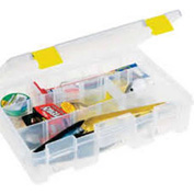 "Plano ProLatch™ StowAway® 4-9 Adjustable Compartment Box, 11""L x 7-1/4""W x 2-3/4""H,Clear - Pkg Qty 2"
