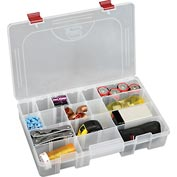 "Plano ProLatch™ StowAway® 6-21 Adjustable Compartment Box, 14""Wx9-1/8""Dx2-13/16""H, Clear - Pkg Qty 2"