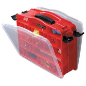 "Plano Stow N Go Double-Sided LockJaw 16-60 Adjustable Compartment Box, 14-1/2""Wx4-5/8""Dx11-3/4""H,Red"