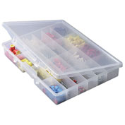 "Plano StowAway 24 Fixed Compartment Box, 14-1/4""W x 2-1/4""D x 11-1/2""H, Clear"