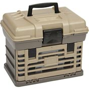 """Plano StowAway® Drawer Rack System, 2 Boxes,16-1/2""""Wx11-3/4""""Dx13-3/8""""H,Gray/Sandstone"""