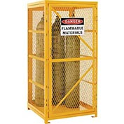 Cylinder Storage Cabinet Single Door Vertical, 9 Cylinder Capacity, Assembled