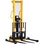 Vestil Hand Pump Stacker VHPS-2000-AA 2000 Lb. Cap. Adjustable Forks & Legs