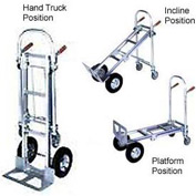 Wesco® Cobra 3-in-1 Aluminum Hand Truck 220593 Pneumatic Wheels