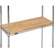 "Hardwood Deck Overlay for Wire Shelving 48""W x 18""D x 1""Thick"