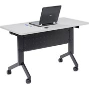 "Training Table, Flip-Top 48""L Gray Finish Top"