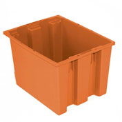 "Akro-Mils Nest & Stack Tote 35190 - 19-1/2""L x 15-1/2""W x 10""H, Orange - Pkg Qty 6"