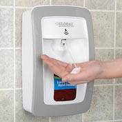 Global™ Automatic Dispenser for Foam Hand Soap/Sanitizer - White/Gray