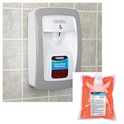 Global™ Hand Soap Starter Kit W/ Automatic Dispenser - White/Gray