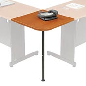 "Interion™ Rounded Corner Tabletop with Support Post, 12"" Radius, Cherry"